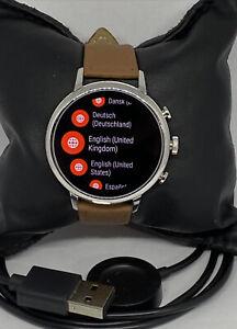 Fossil Venture HR Gen 4 FTW6017 Women's Brown Leather Digital Dial Smart Watch