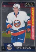 MATHEW BARZAL NO:188 MARQUEE ROOKIE in O PEE CHEE PLATINUM 2016-17    a