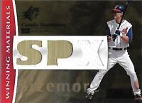 2008 SPx Winning Materials SPx 150 #GS Grady Sizemore /150 - NM-MT Jersey