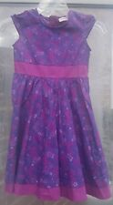 LC Waikiki Girl Purple Floral Flared Summer Dress Size Age 6-7 Yrs /116-122 cm