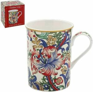 Mugs Set of two Gift boxed  William Morris Golden Lily
