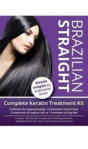 Brazilian Straight, Complete Keratin Home Use Treatment Kit, Salon Quality Hair