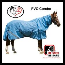 LOVE MY HORSE 5'0 - 6'3 PVC Tough Shade Mesh Summer Combo Horse Rug Blue
