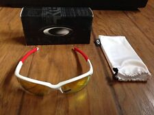 Boys Oakley Mirrored Quarter Jacket White Semi-Rimless Sunglasses NEW