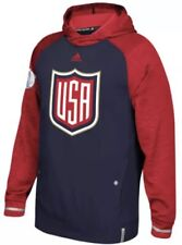 Adidas Men's USA Ice Hockey World Cup 2016 Climawarm Hoodie Sz. M NEW