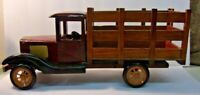 """Vintage Wooden Replica of an Antique Truck 15"""" long x 6 1/2"""" tall x 5"""" wide"""