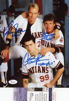Charlie Sheen Tom Berenger Corbin Bernson Signed Major League 8x10 Photo - JSA