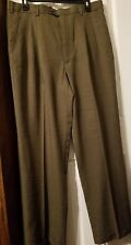 Geoffrey Beene Mens 36x32 Pleated Dress Pant Brownish Olive EXCELLENT CONDITION