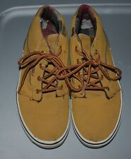 BOYS TAN SNEAKERS BY VANS -SIZE 4 YOUTH