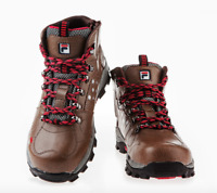 FILA Brand New Safety Shoes F-66N Dark Brown Work boots Zip Steel Toe US M 8-11