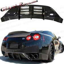 For 08-11 GTR R35 CBA Model Carbon Fiber W Look Rear Bumper Diffuser Replace Lip