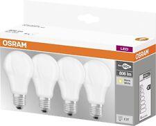 4er-Pack Osram LED BASE A60 E27 9W 2700K Warmweiß LED Lampe 60W Glühbirne 60x110