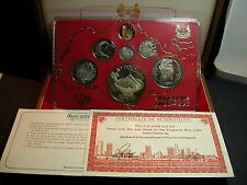 S-73: Scarce Singapore 1980 PROOF Set, c/w Certs, No 07792 in Teak Box