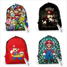 Super Mario Anime Bag Backpack Student Boy Girl Kids Schoolbag Rucksack