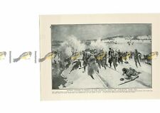 Russian Cavalry Pursue Austrians Across Uzsok Pass, WW1, Book Illustration