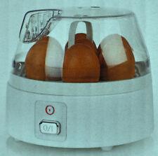 Quigg Eierkocher mit Edelstahl-Kochschale Eier-Kocher für bis zu 7 Eier/ NEU!