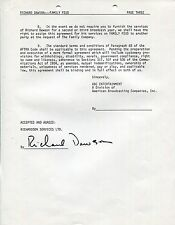RICHARD DAWSON HAND SIGNED THREE PAGE CONTRACT FROM 1982     FAMILY FEUD