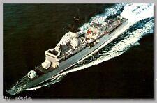 Uss Elmer Montgomery Ff-1082 postcard Us Navy warship Fast Frigate