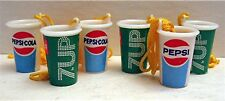 10 Pepsi Cola 7 Up Soda Cups Charms Vending Machine Toy