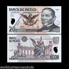 MEXICO 20 PESOS P116A 2001 *E* LION SNAKE POLYMER UNC LATINO CURRENCY MONEY BILL