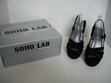 NIB, SOHO Lab, Zoe High Heel Shoes, Size 7, Black Velvet