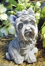 """Latex Yorkie dog mold concrete plaster mould 5"""" H x 3.5"""" W"""