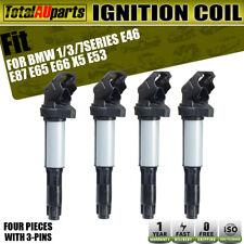 4x Ignition Coils Pack on Plug for BMW E39 E46 E53 E60 E65 E66 E85 E87 E88 E90