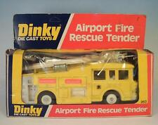Dinky Toys 263 Airport Fire Rescue Tender Yellow OVP #3815