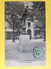 cpa Rare PARIS Place Martin NADAUD Sculpture LE PRINTEMPS par Michel BEGUINE