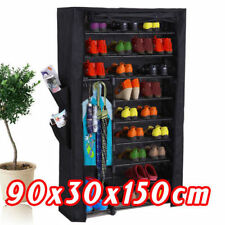Shoe Rack Stackable Cabinet 36 Pairs Storage Organiser Portable Wardrobe Cover