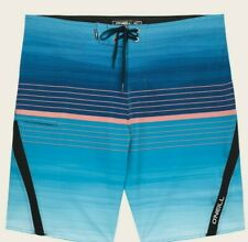 O'Neill Superfreak Risciacquo 20 Uomo Poly Stretch Boardshorts 32 Turchese New