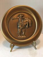 """Vintage Frederic Remington's """"The Bronco Buster"""" Bronze Plate"""
