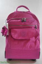 New With Tag Kipling SANAA Wheeled Backpack Carry On Luggage Bag- Breezy Pink