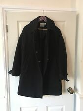 ASOS Size 10 Black Wool Swing Coat