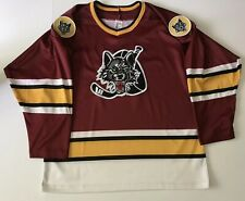Authentic Vintage CHICAGO WOLVES IHL AHL SEWN PATCHES HOCKEY JERSEY