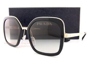 Brand New Prada Sunglasses PR 57US 1AB 0A7  Black Gold/Grey Gradient For Women