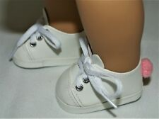 """Sneakers Rabbit White for 15"""" Bitty Baby 18"""" American Girl Doll Accessories"""