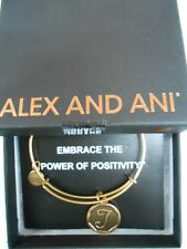Alex and Ani INITIAL T Expandable Wire Bracelet Rafaelian Gold NWTB&C