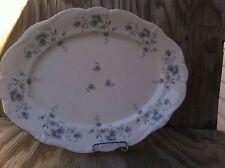 Johann Haviland Bavaria Blue Garland Giant Serving Platter Silver Trim