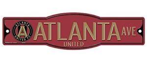 "Atlanta United FC 4"" x 17"" Street Sign MLS"