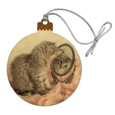 Siberian Cat Mirror Fairest Of Them All Wood Christmas Tree Ornament
