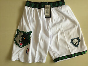 Minnesota Timberwolves White Retro Basketball Shorts Size: S-XXL