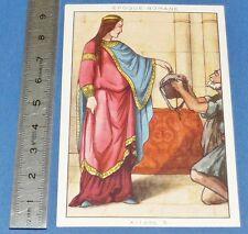 CHROMO 1950 GRANDE IMAGE BON-POINT BLEDINE COSTUME FEMININ EPOQUE ROMANE XIIe