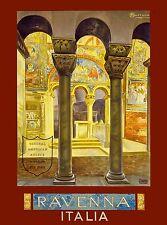 Ravenna Italia Italy Vintage Europe Travel Advertisement Poster Picture Print 2