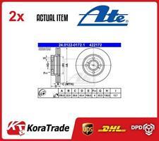 2 X Conjunto 24.0122-0172.1 Disco De Freno ATE