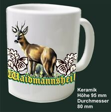 Chasse Wild Tasse à café Céramique Pott pour chasseurs Motif Le chevreuil