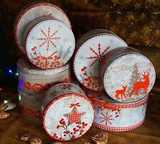 Plätzchendose Metall 3er Set rund Gebäck Weihnachten Keksdose Blech Gebäckdose