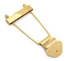 Gold Long Standard Trapeze Tailpiece Hollowbody/Archtop/Jazz Guitar TP-ETL-G