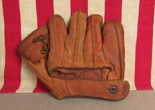 Vintage 1940s Tru Test Leather Baseball Glove Eddie Stanky Model Lefty Mitt