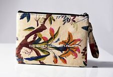Velvet Womens Bird Print Clutch Purse Bag Ladies Evening Handbag Wedding Indian